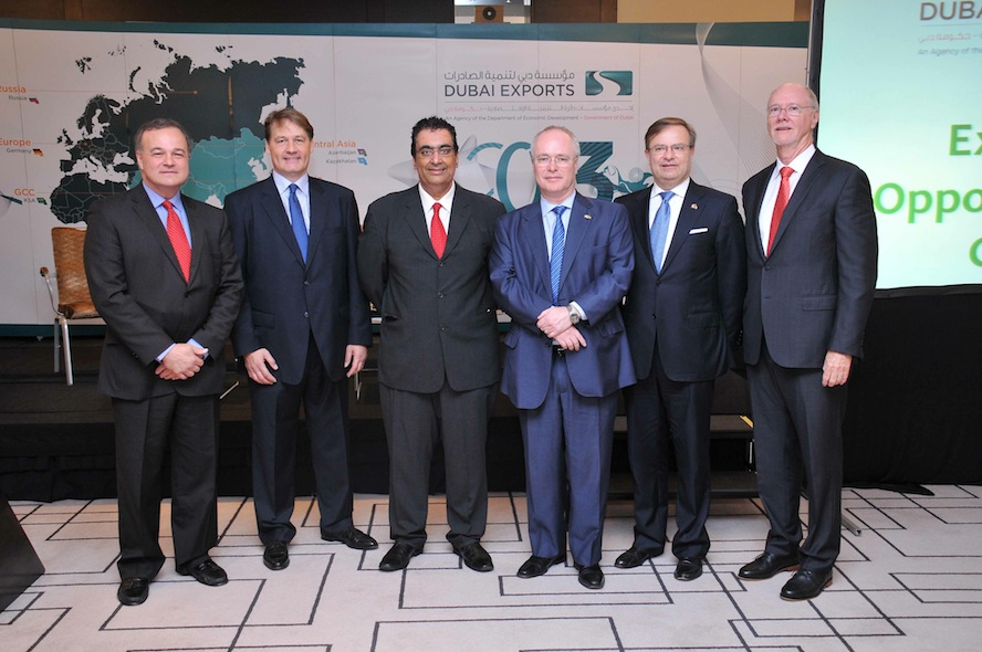 Dr. Ashraf Mahate with other delegates at the Global Trade Development Week (GTDW) conference held in Dubai