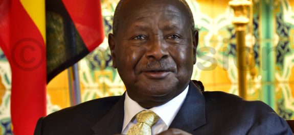 Yoweri Museveni in Dubai